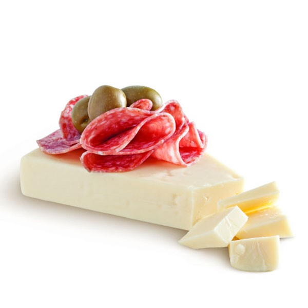 Asiago Cheese with Salami and Olive