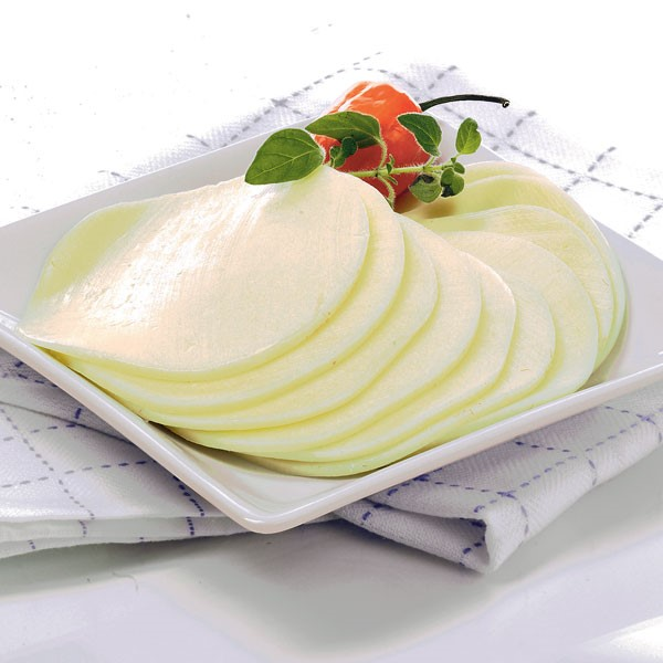 Provolone Cheese Slices on Plate