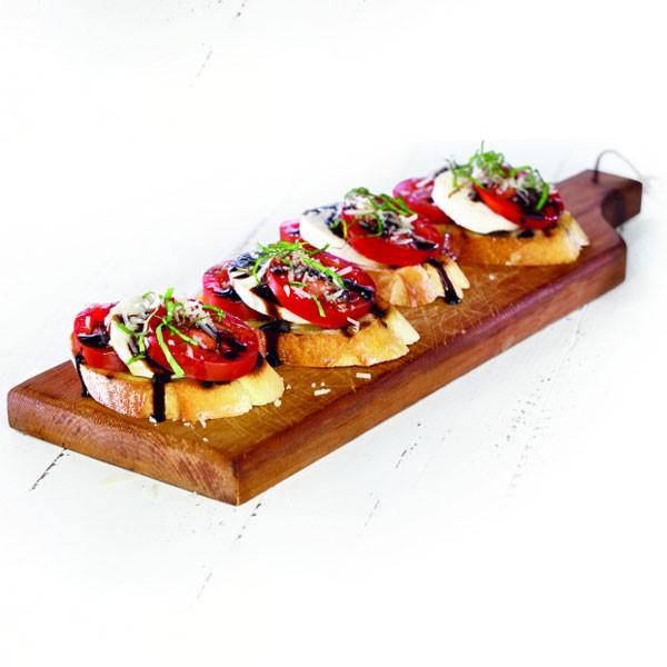 Bruschetta on Cutting Board