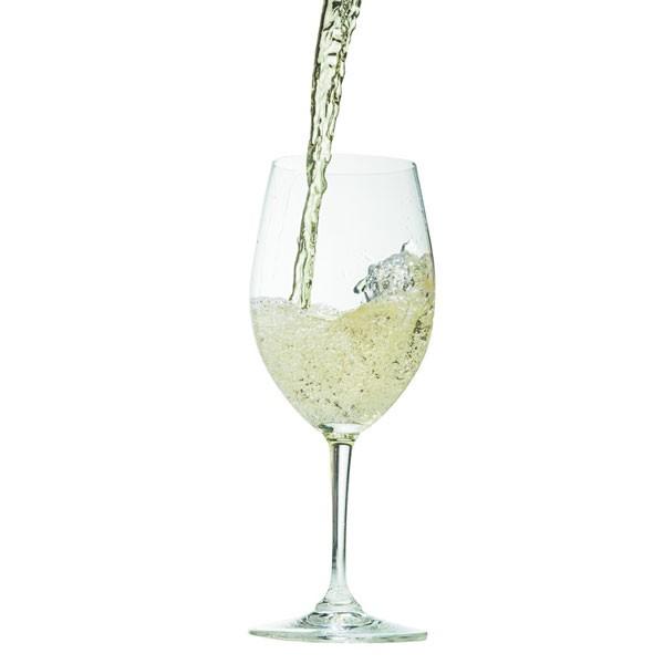 White Wine Pouring into Wine Glass