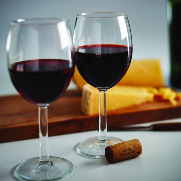 Red Wine in Wine Glasses