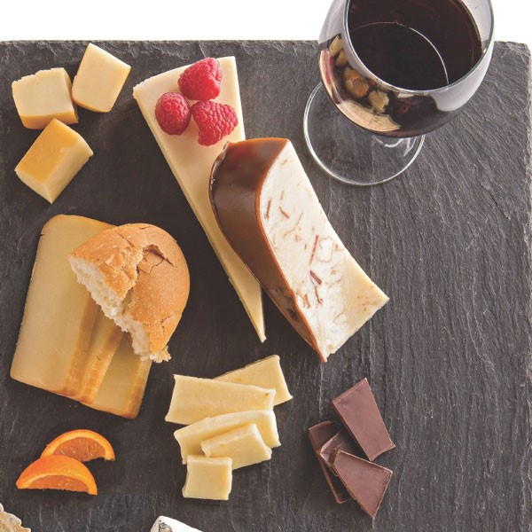 Cheese Board with Red Wine