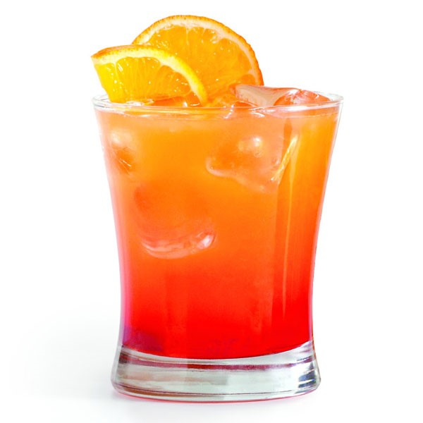 Sunset Colored Vodka Cocktail