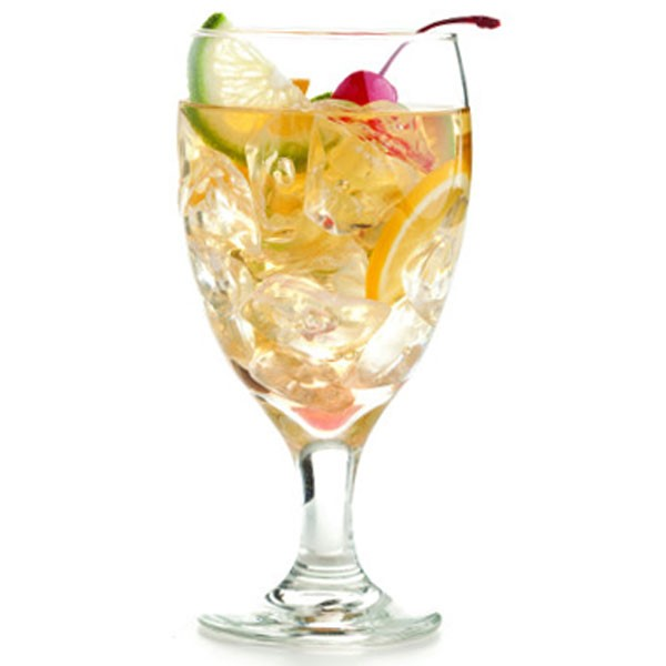 Cocktail in Glass with Fruit