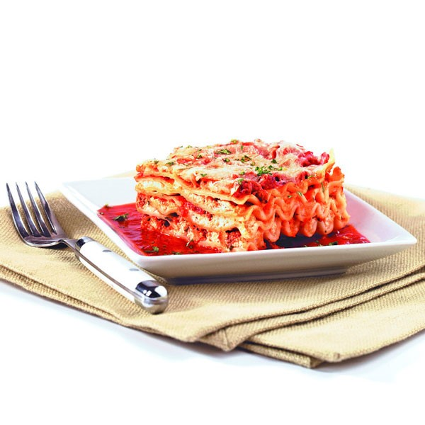 Lasagna on Plate with Fork