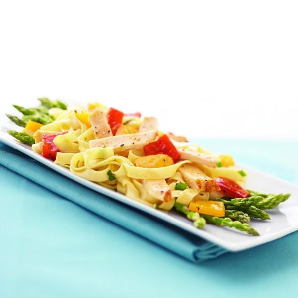 Grilled Chicken Pasta with Veggies