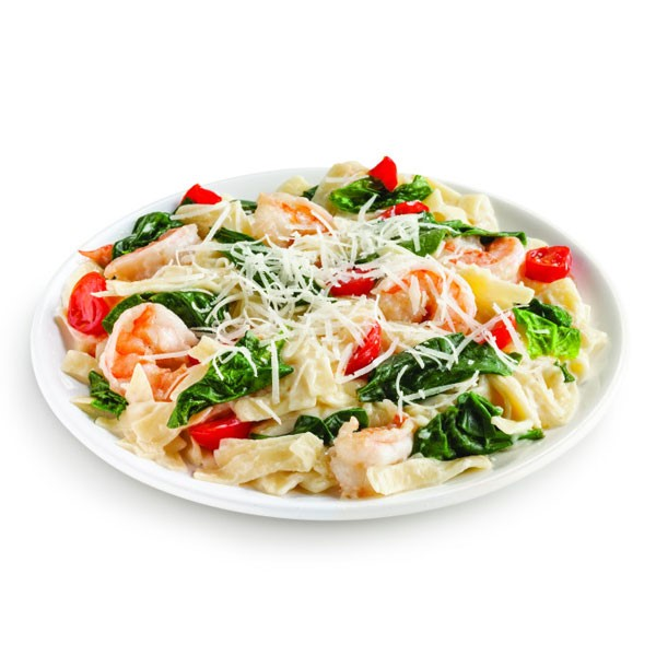 Creamy Shrimp Alfredo on Plate