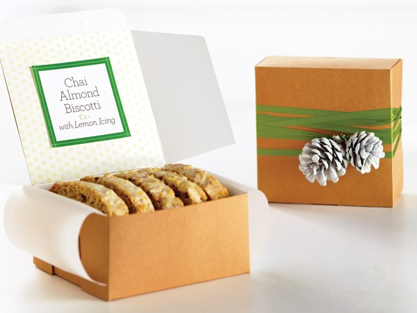 Box of Chai-Almond Biscottis, drizzled in Lemon Icing