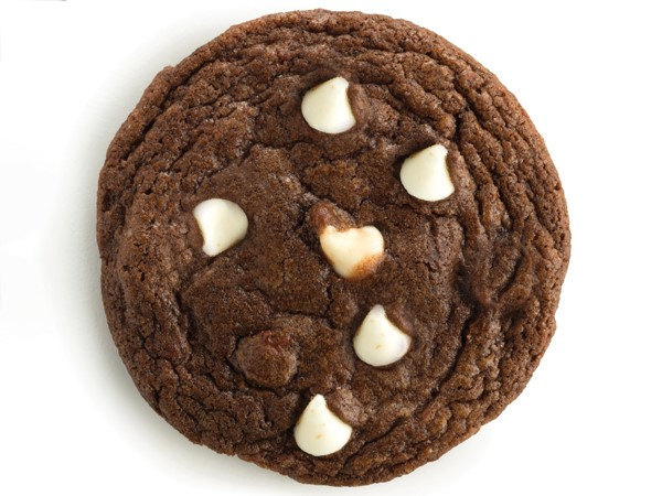 Double chocolate chip cookie with white chocolate chips
