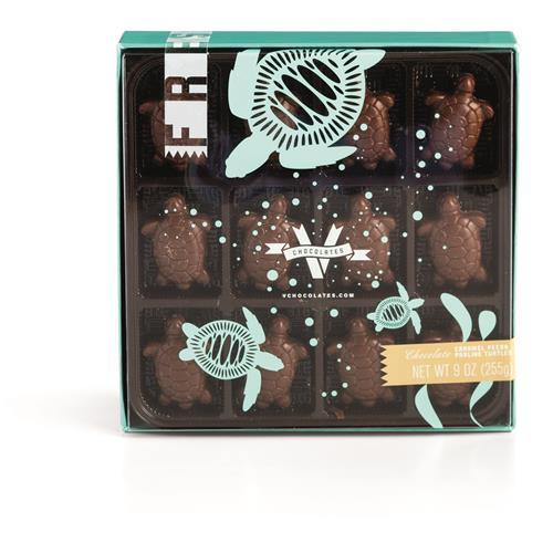 Pecan Praline Chocolate Turtles