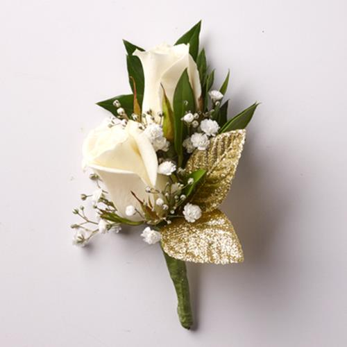 Golden Glamor Petite Rose Boutonniere
