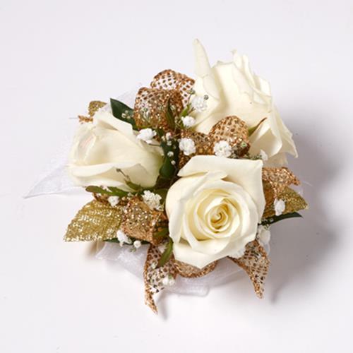 Golden Glamor Petite Rose Corsage