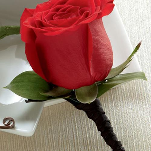 The FTD Red Rose Boutonniere