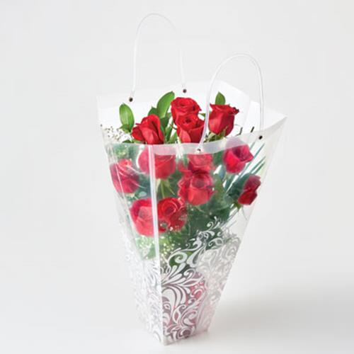 Dozen Roses in a Bag